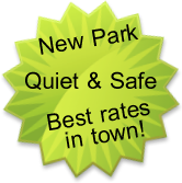 Quiet and safe RV park, best rates